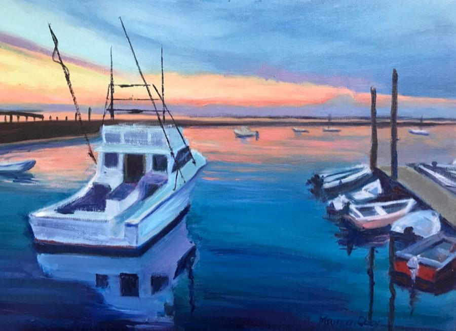 Plymouth Harbor Sunset by Maureen Obey
