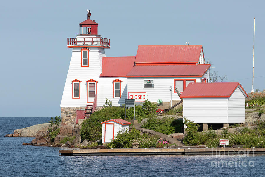 Pointe au Baril Range Front Lighthouse, Ontario, Canada by Louise Heusinkveld