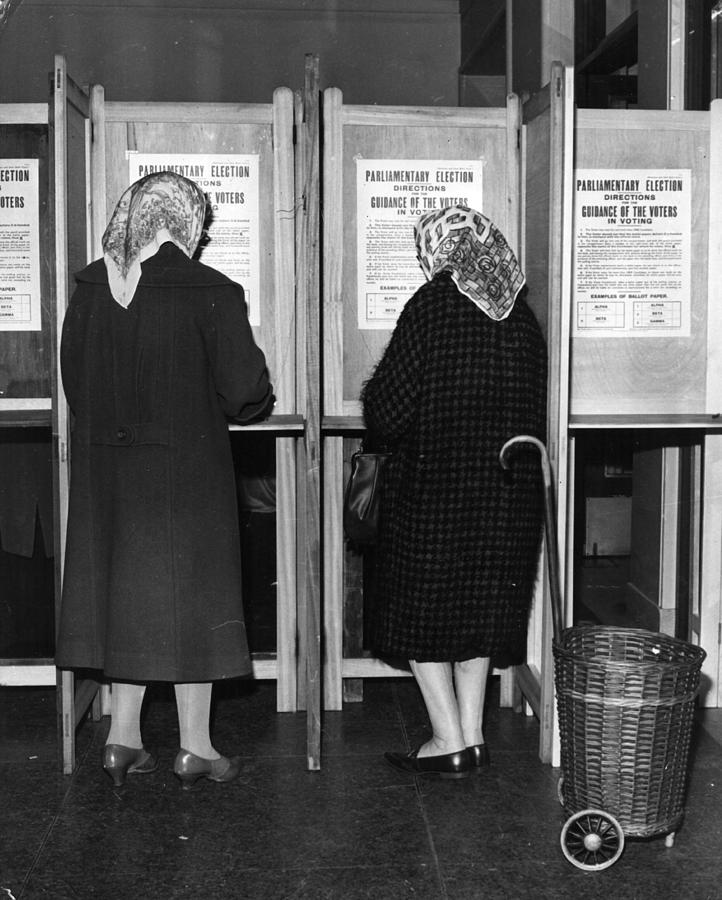 Polling Day Photograph by Keystone