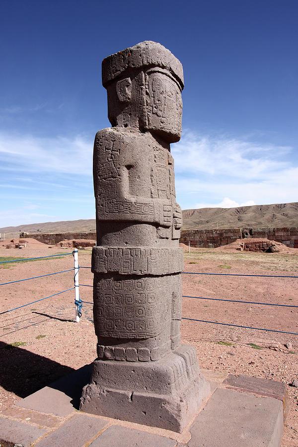 Ponce Monolith, Tiwanaku, Bolivia by Aidan Moran