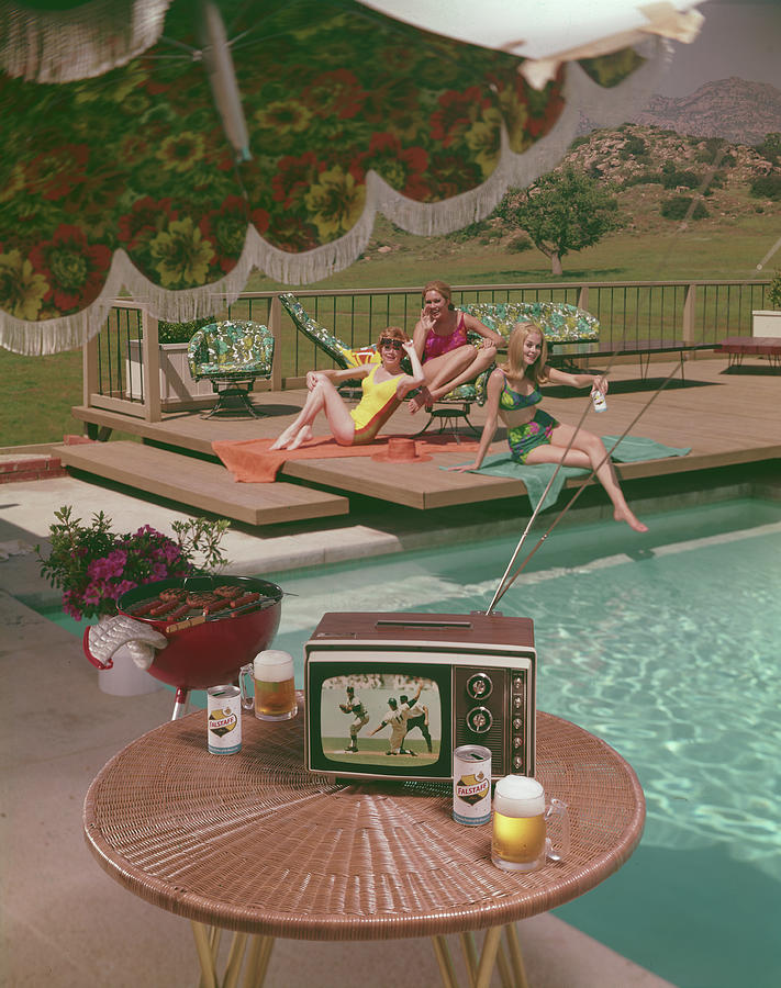 Poolside Fun Photograph by Tom Kelley Archive