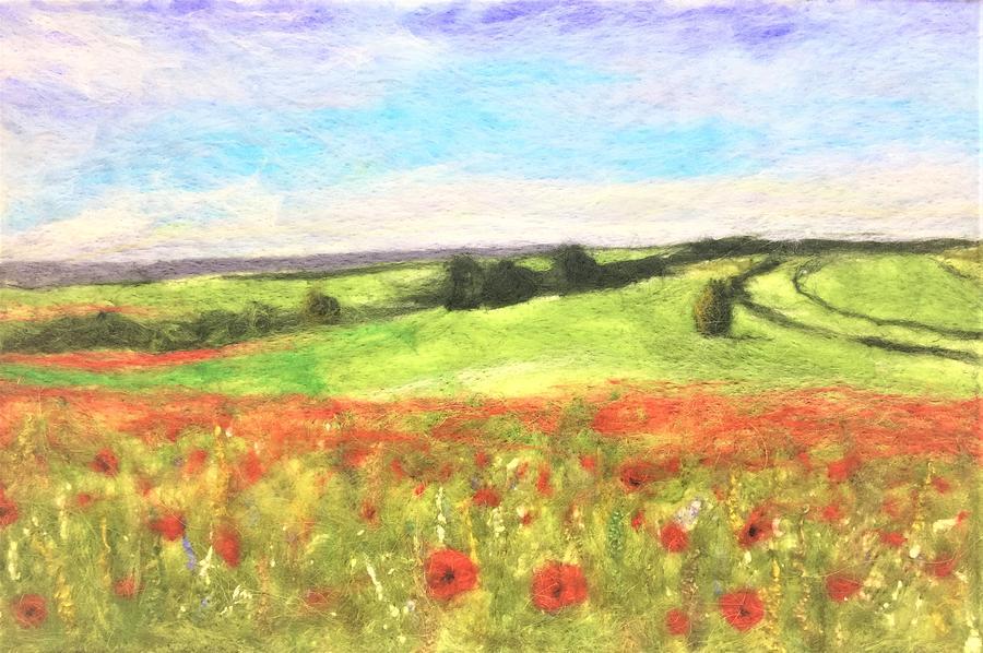 Poppy Field by Ushma Sargeant