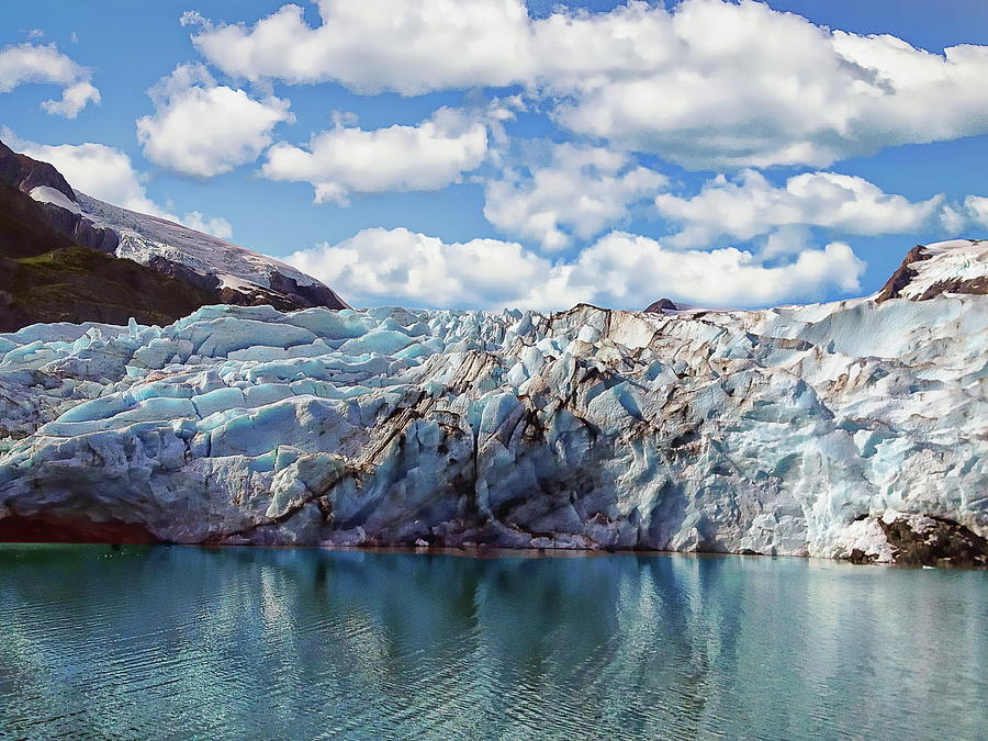 Portage Glacier Scenic by Anthony Dezenzio