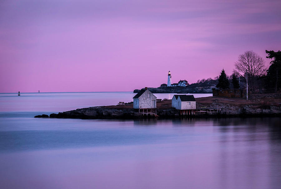 Portland Head Lighthouse at Dusk by Gary Shepard