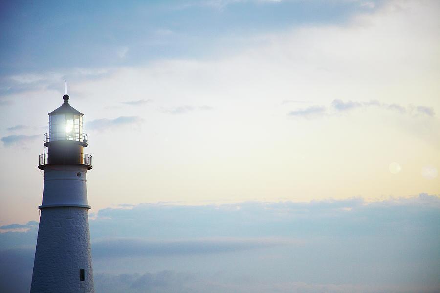 Portland Head Lighthouse At Sunrise Photograph by Thomas Northcut