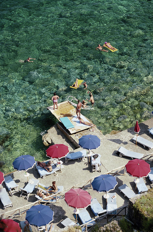 Porto Ercole Beach Photograph by Slim Aarons