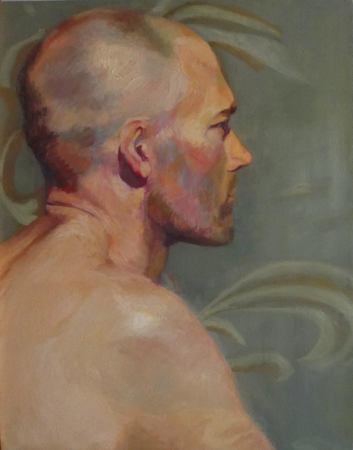 Profile Painting - Portrait Of A Man by Irena Jablonski
