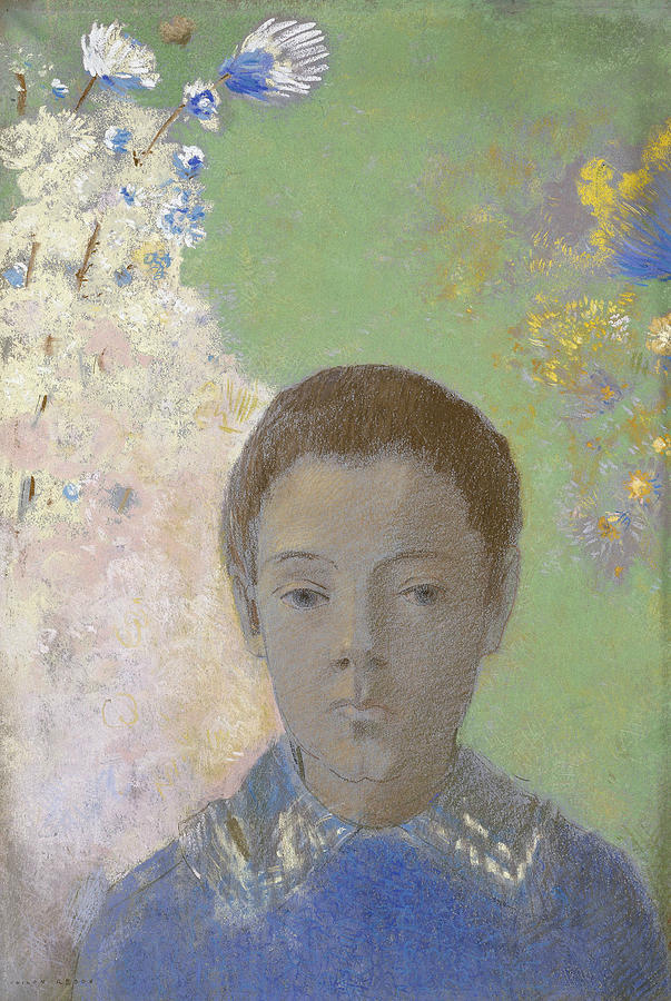 Portrait of Ari Redon by Odilon Redon