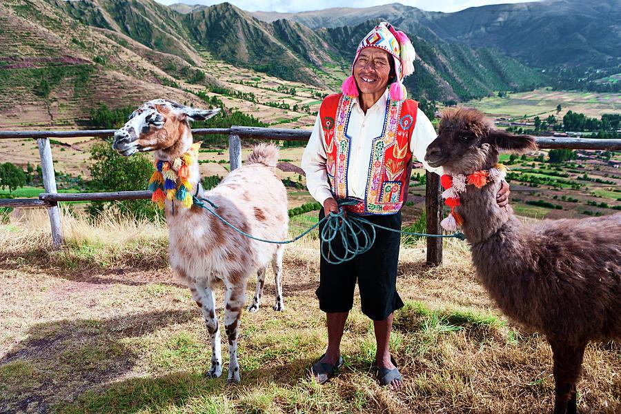 Portrait Of Peruvian Man Near Pisac Photograph by Hadynyah