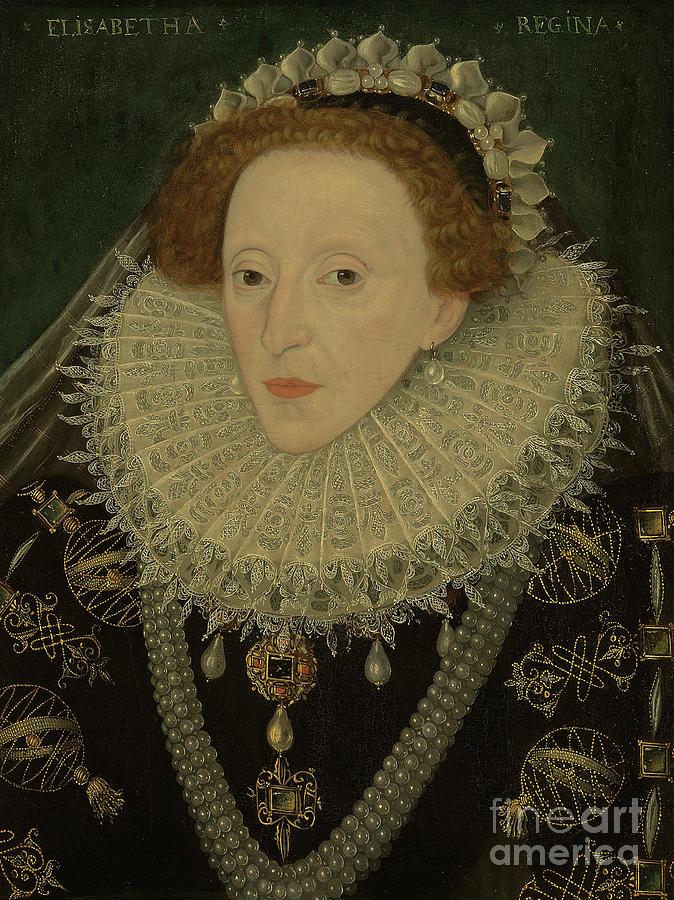 Female Painting - Portrait Of Queen Elizabeth I by English School