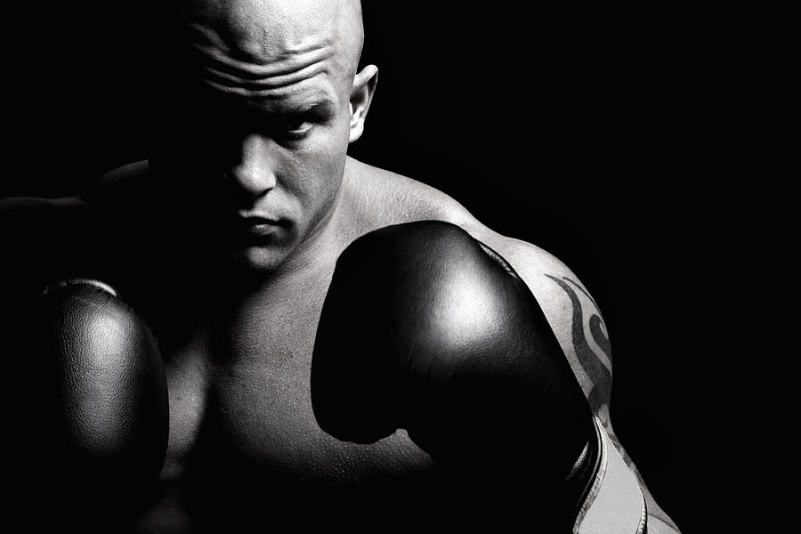Powerful Fighter Portrait Photograph by Vuk8691