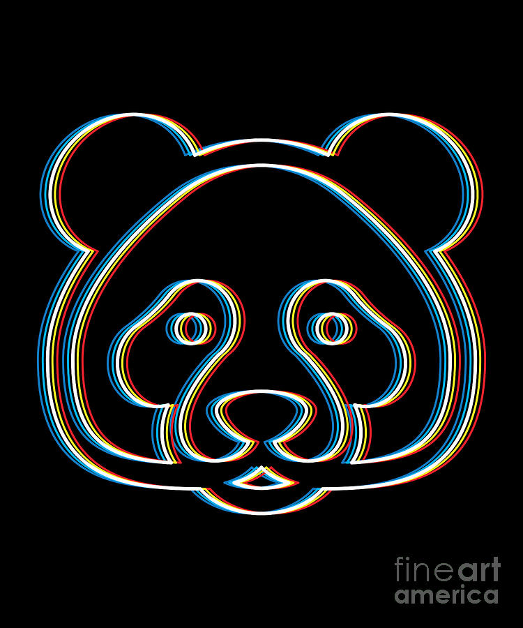 Psychedelic Bear Gift Psy Trance Music Trippy Retro 3d Effect Design For  Animal Lovers