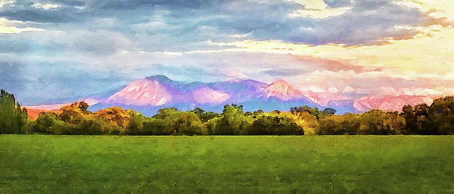 Purple Mountain Sunset by Rick Wicker