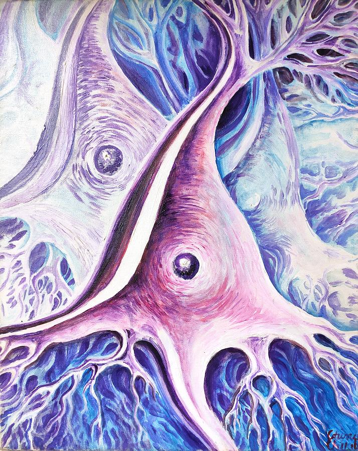 Neurons Painting - Pyramidal Neurons by Chirila Corina