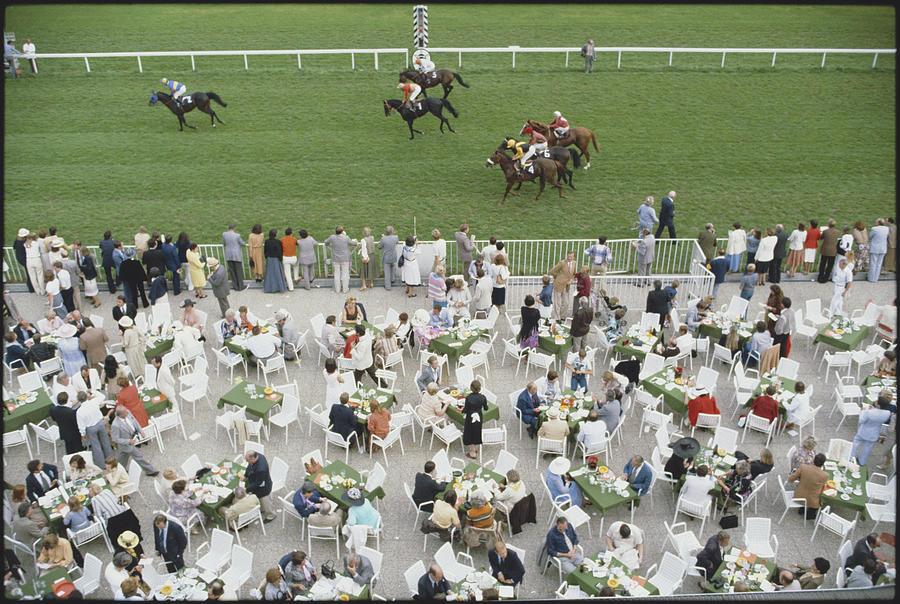 Horse Photograph - Racing At Baden-baden by Slim Aarons