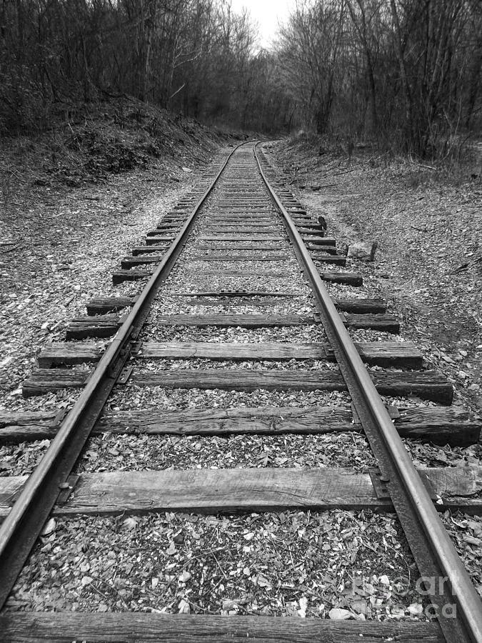 Rails Digital Art - Railroad Tracks by Phil Perkins