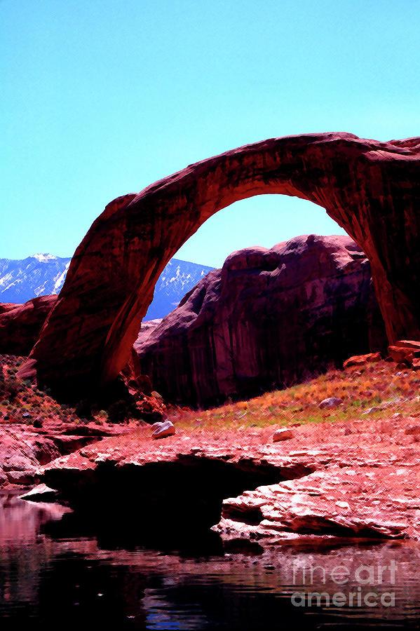 Rainbow Bridge and Navajo Mountain  by Thomas R Fletcher