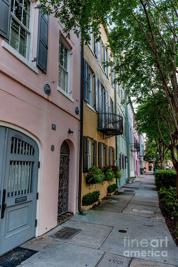 Rainbow Row - Charleston South Carolina by Dale Powell