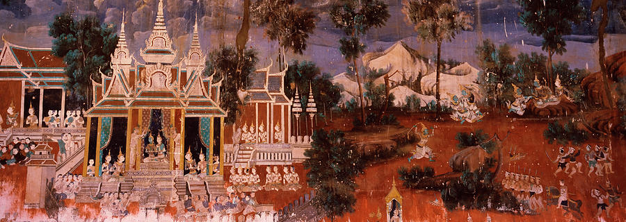 Horizontal Photograph - Ramayana Murals In A Palace, Royal by Panoramic Images