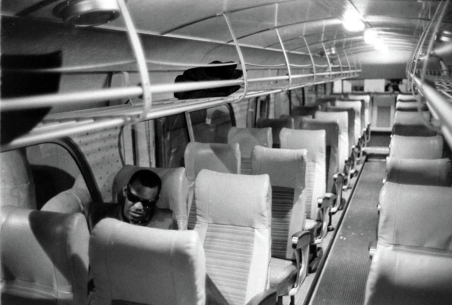 Ray Charles On His Tour Bus Photograph by Bill Ray