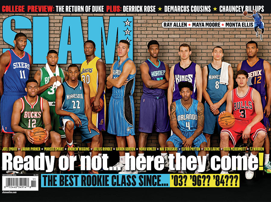 Ready or Not… here they come! NBA Rookies SLAM Cover Photograph by Getty Images