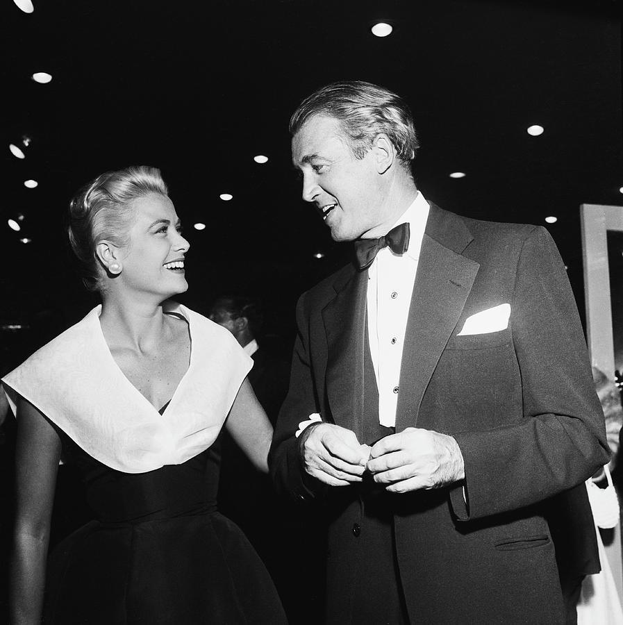 Jimmy Stewart Photograph - Rear Window Stars by Michael Ochs Archives