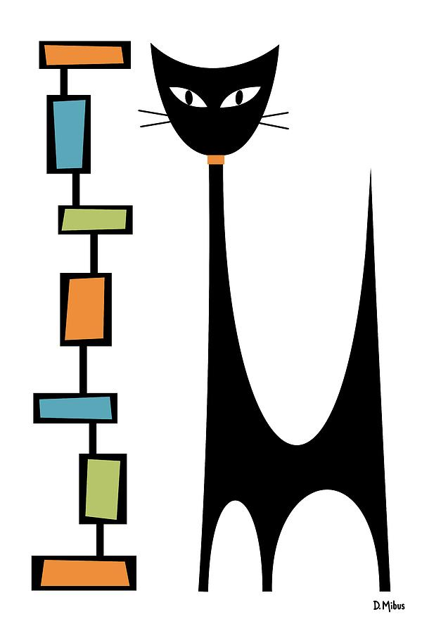 Rectangle Cat by Donna Mibus