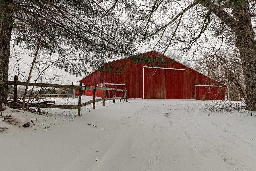 Barn Photograph - Red Barn 1 by Bob Doucette
