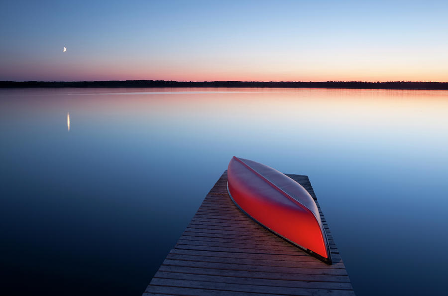Red Canoe Photograph by Mysticenergy