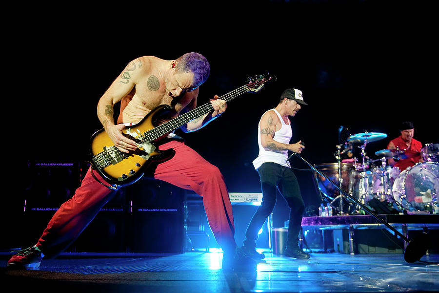 Red Hot Chili Peppers Perform At O2 Photograph by Neil Lupin