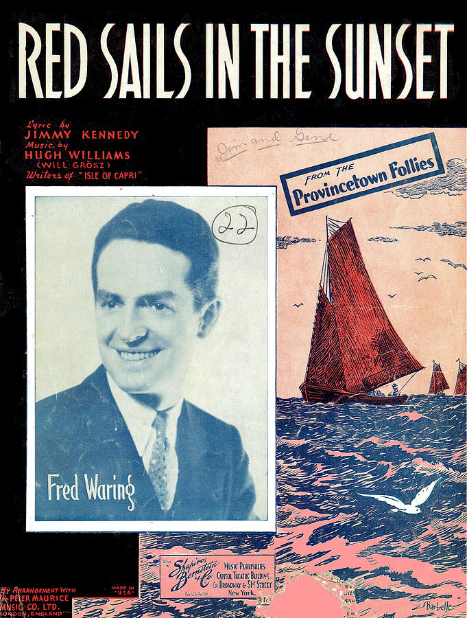 Red Sails in the Sunset by Mel Thompson