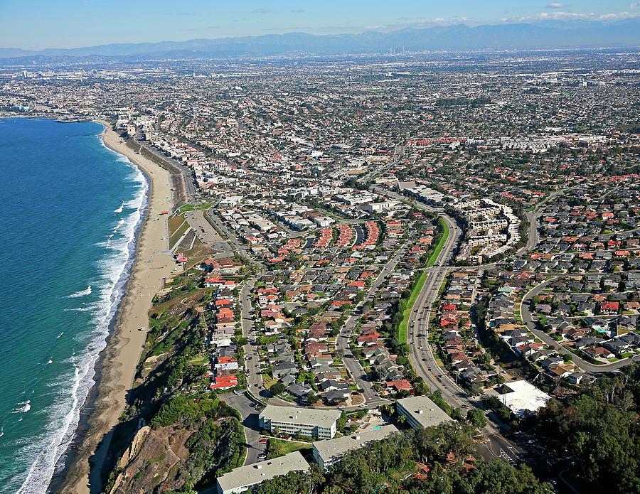 Redondo Beach Coast Photograph by PB Aerial Photography