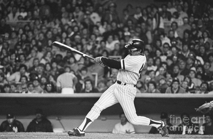 Reggie Jackson Hitting Home Run Photograph by Bettmann