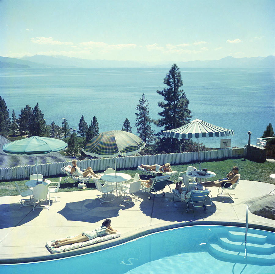 Relaxing At Lake Tahoe Photograph by Slim Aarons