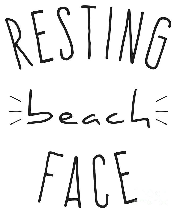 Resting Beach Face by Flippin Sweet Gear