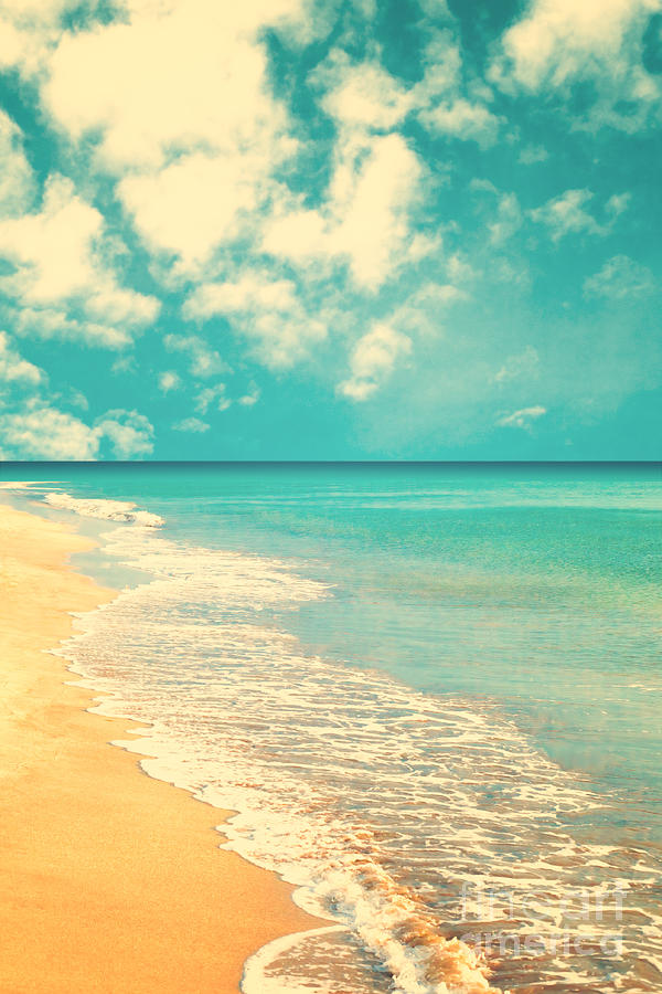 Template Photograph - Retro Beach by Andrekart Photography