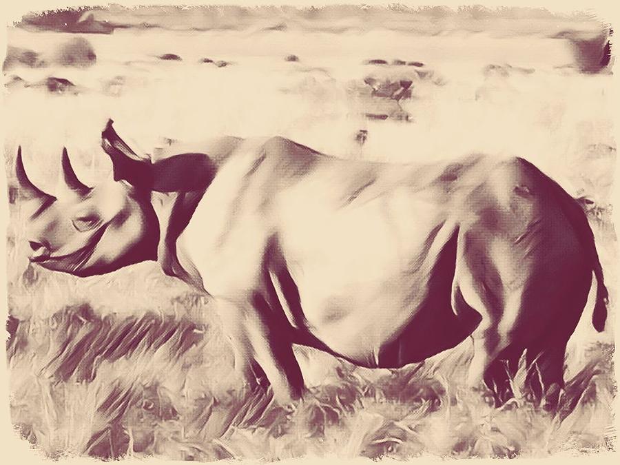 Rhino by Gini Moore