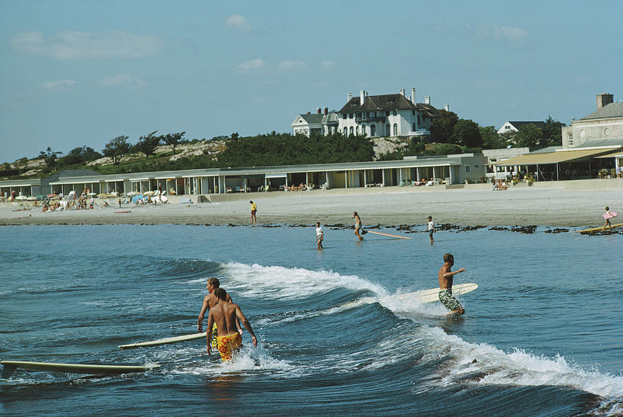 Rhode Island Surfers Photograph by Slim Aarons