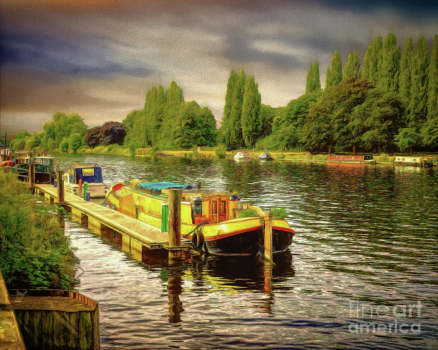 River Thames Photograph - River Work by Leigh Kemp