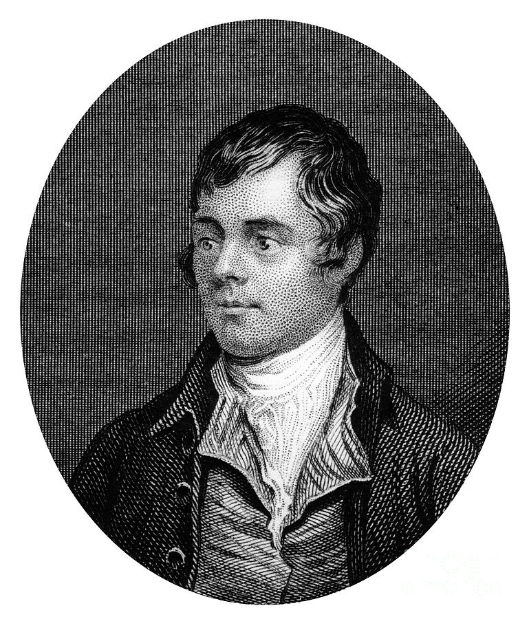 Robert Burns, Scottish Poet, 1877 Drawing by Print Collector