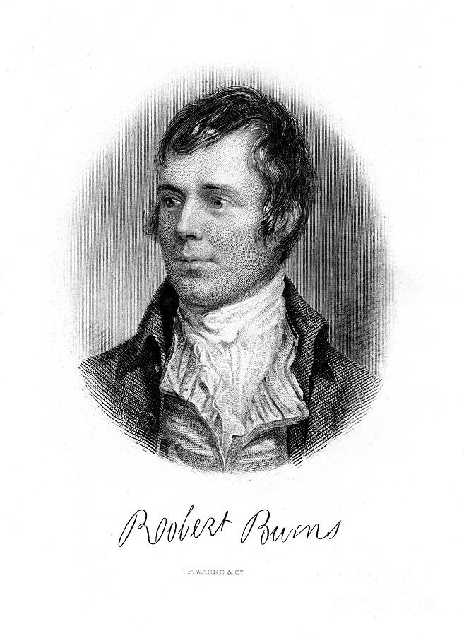 Robert Burns, Scottish Poet, 19th Drawing by Print Collector