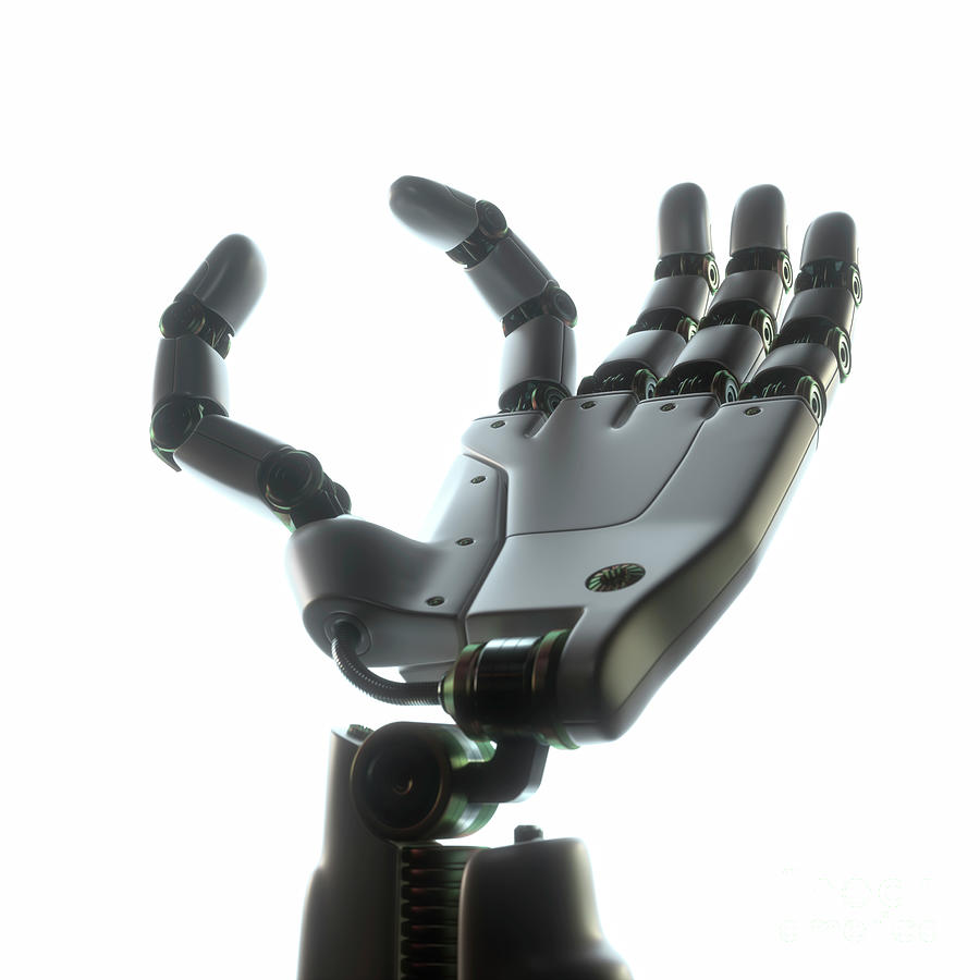 Robotic Photograph - Robotic Hand by Ktsdesign/science Photo Library