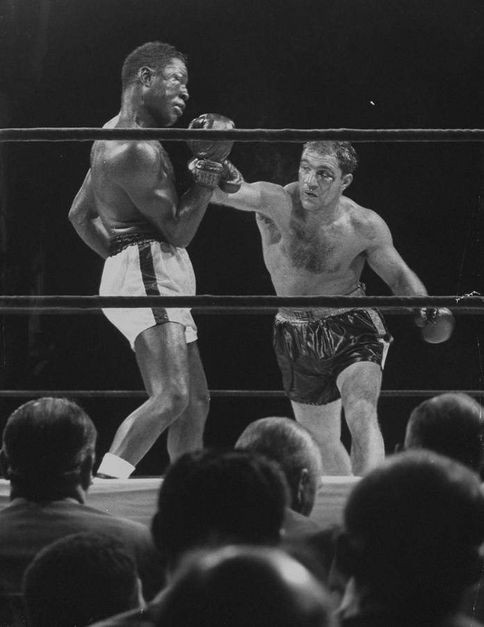 Rocky Marcianoezzard Charles Photograph by Ralph Morse