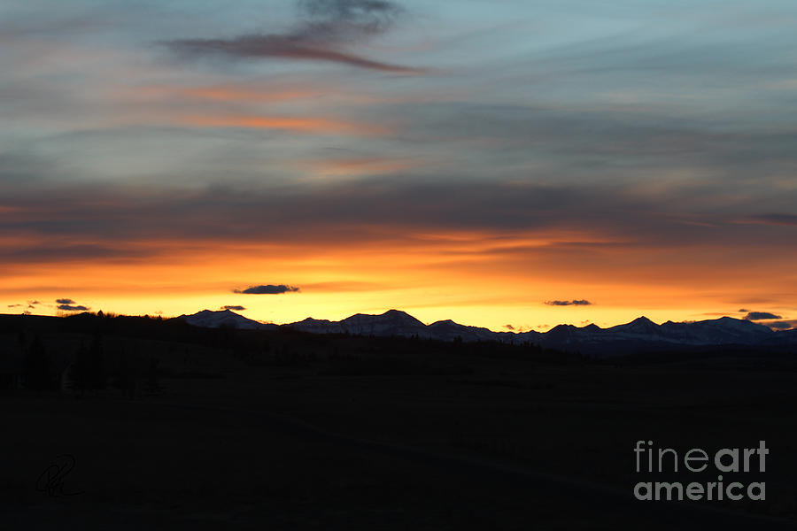Rocky Mountain Sunset by Ann E Robson