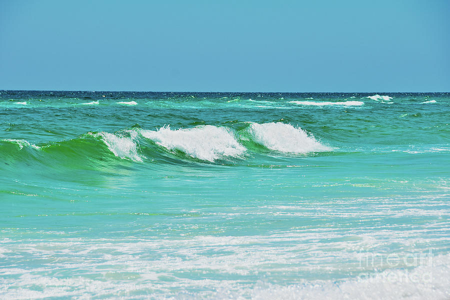 Rolling Waves Painting - Rolling Waves by Christine Dekkers