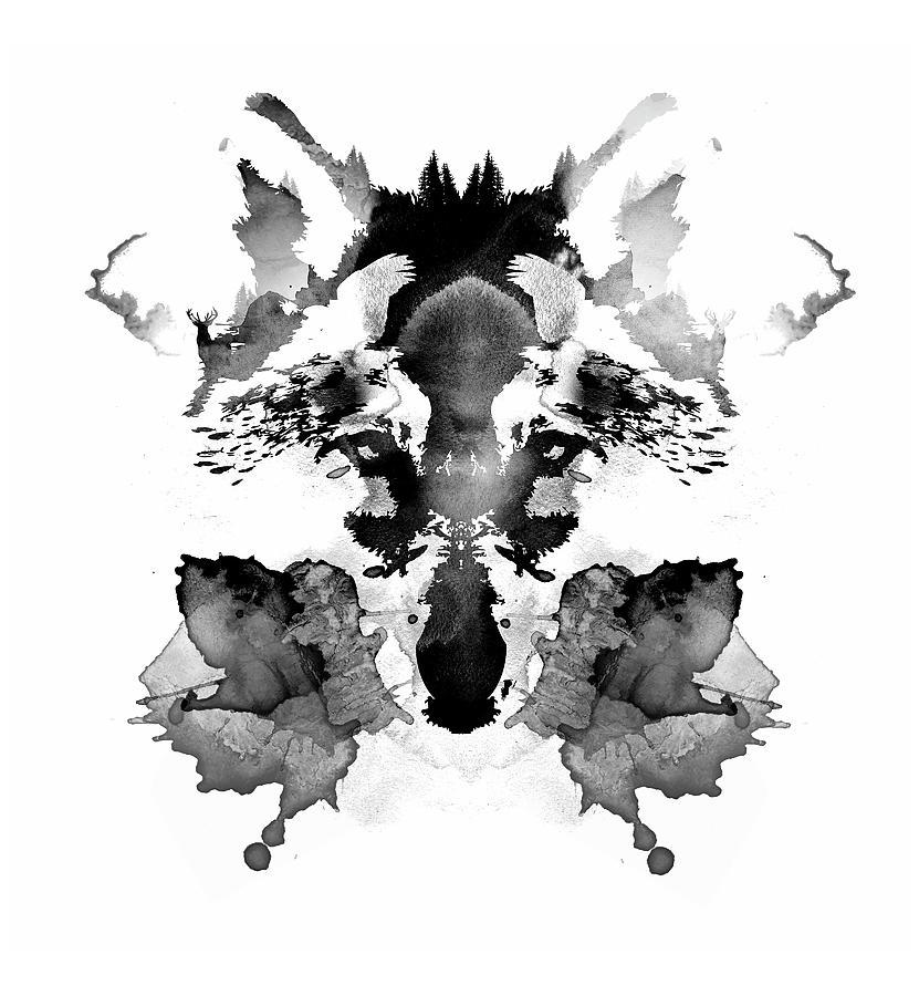 Wolf Painting - Rorschach by Robert Farkas