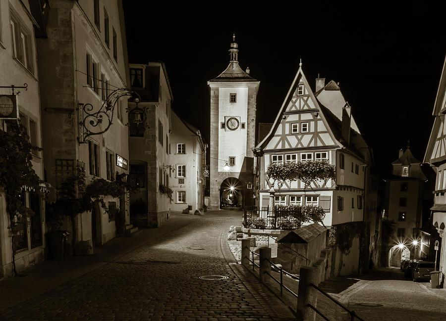 Rothenburg Germany Photograph - Rothenburg Ob Tauber Clock Tower by Norma Brandsberg