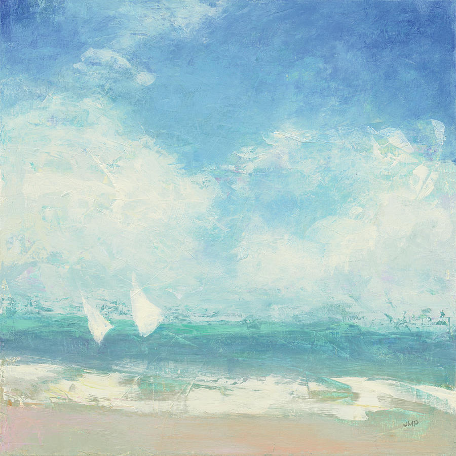 Abstract Painting - Rounding The Buoy by Julia Purinton