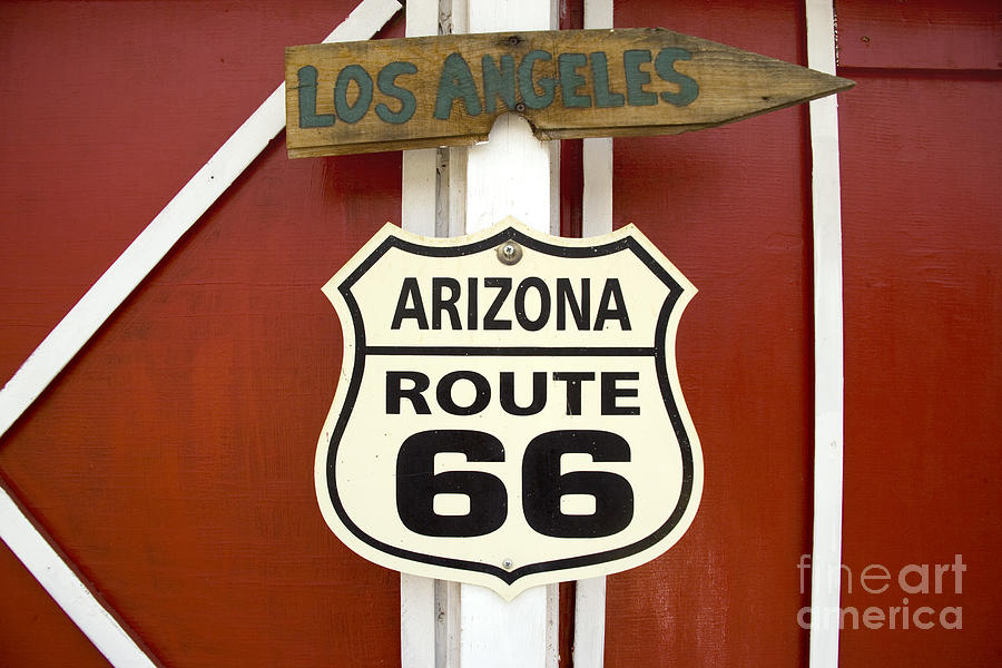ROUTE 66 SIGN by Carol Highsmith