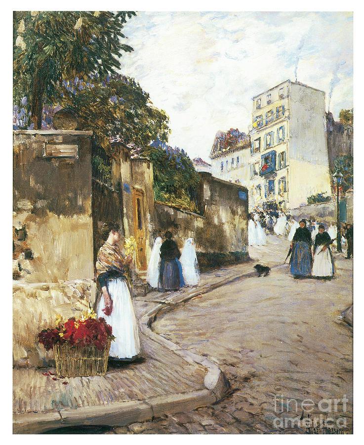 Rue Montmartre by CHILDE HASSAM